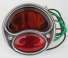 Model A Ford Motorcycle DELUXE Tail light BOBBER STOP Stainless steel 12V Right