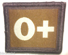 Blood Group O+ Velcro Patch Guards Paras Royal Marines RAF Royal Navy Army SAS