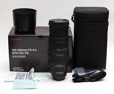 Sigma DG 150-500mm F/5-6.3 HSM APO OS DG RF SLD Lens For Canon - Sharp!