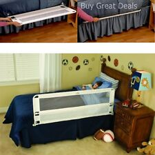 Hide Away Extra Long Bed Rail White Child Protection Safety Sleep Barrier - NEW