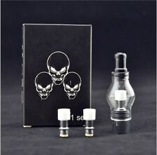 Glass Globe Atomize r +2 Replacement Coil  V ape Pen Clearomizer Dome Wax TANK