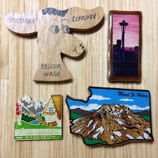 Lot of 4 Washington State Refrigerator Magnets Space Needle Leavenworth