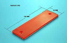 Confezione da 2 Autoadesivo Rosso Rettangolare CATADIOTTRI POSTERIORI OPEL 150x50mm