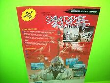 Sega SHADOW DANCER Original 1989 NOS Video Arcade Game Sales Flyer Japan Shinobi