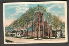 1916 post card First Presbyterian Church Olean NY/Alfred Station to Shinglehouse