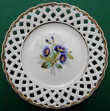 Biedermeier,floraler Dekor,Porzellan,Durchbruch,Handmalerei,1840/60,TOP