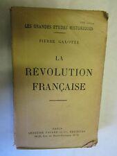 """Pierre Gaxotte """"La Révolution Française"""" /Arthème Fayard 1934"""