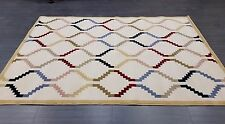CHINESE,MODERN,ABSTRACT, 90% WOOL RUG, 224x160CM,IVORY/CREAM & MULTICOLOUR