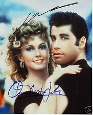 GREASE - JOHN TRAVOLTA & OLIVIA NEWTON JOHN AUTOGRAPH SIGNED PP PHOTO POSTER