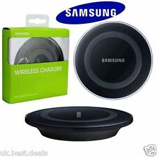 Samsung Galaxy S6, S6 + Edge Qi Wireless Charger Charging Pad Plato-Negro