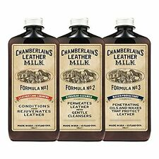 Chamberlain's 3-Formula Leather Conditioner, Cleaner and Protector Kit - 12 Oz