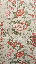 Floral Trail Print Blossoming Pink Red Rose Flower Classic Vintage Wallpaper
