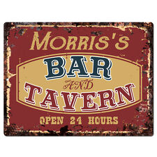 PPBT0278 MORRIS'S BAR and TAVERN Rustic Tin Chic Sign Home Store Decor Gift