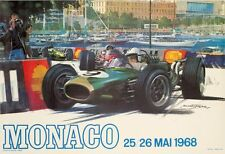 Monaco Grand Prix 1968 VINTAGE FRENCH RACE RACE POSTER
