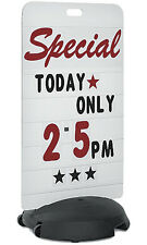 """New Retails Tip-n-Roll Rolling Sign Deluxe Message Board 24""""W x 46""""H x 1/2""""D"""