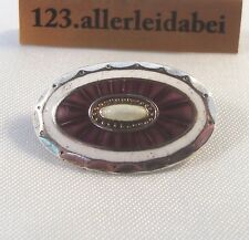 EMAUX broche 830 il argent EMAILE avec placage Old ENAMEL BROOCH/uu 539