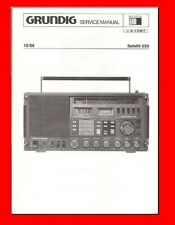 GRUNDIG SATELLIT 650 SHORTWAVE  SERVICE MANUAL