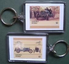1908 Locomobile Old Sixteen Car Stamp Keyring (Auto 100 Automobile)