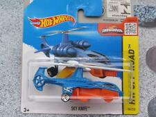 Hot Wheels 2015 #094/250 SKY KNIFE helicopter blue over orange Case N