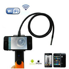 2MP 5.5mm WIFI Endoscope Inspection Camera 1M Pipe Tube For IOS iPhone Android