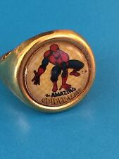 Uncirculated Vintage Spiderman Adjustable Novelty Metal Ring 1960s Premiums