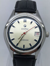 RARE VINTAGE ROAMER SEAROCK WHITE DIAL HAND WINDING 17 JEWELS MAN ( GREAT COND)