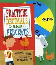 Fractions, Decimals, and Percents by David A. Adler (2011, Paperback)