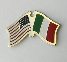 ITALY ITALIAN INTERNATIONAL USA COMBO COUNTRY WORLD FLAG LAPEL PIN 3/4 INCH