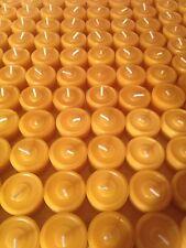 135 Bienenwachs Teelichter + 1 Glasschalen, Bienenwachs Kerzen