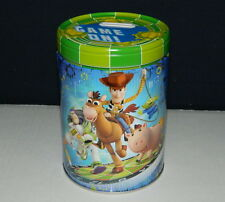 Walt Disney's Toy Story Large Round Illustrated Tin Coin Bank Style C NEW UNUSED