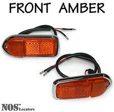 LUCAS Front Amber Side Marker Lamps, MG Midget, MGB 1970-80, XJ6 XJ12 XJS