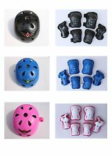 Kid's Skateboard Longboard Helmet Knee & Elbow Pads Wrist Guard Combo SET
