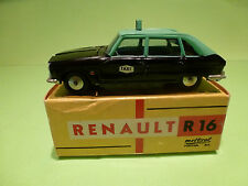 METOSUL 14 RENAULT 16 - TAXI - BLACK + GREEN 1:43 - RARE - VERY GOOD IN BOX