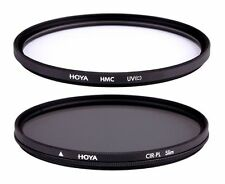 Hoya 52mm Filtro UV & Kit De Doble Circular Polarizador