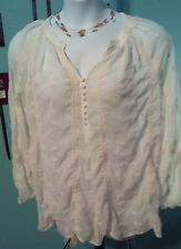 bar III Off White Lace Blouse (2xl)