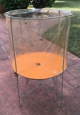 Vintage Laundry Basket Hamper Metal Industrial ,,Folding Basket -PRICE LOWERED