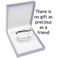 Equilibrium Silver Plated Half Bangle Friends Engraved 8600