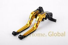 Extendable&Foldable Brake Clutch Levers For Yamaha YZF R6 2005-2016 CNC Golden