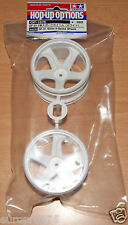 Tamiya 54676 GF-01 White 5-Spoke Wheels (GF01/Land Cruiser 40/Vajra), NIP