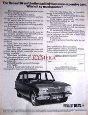 1971 Renault '16TL' Motor Car Advert - Original Auto Print AD