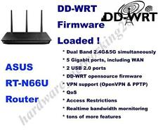 Asus RT-N66U RT-N66R N900 Dual-Band Wireless Router, DD-WRT Firmware VPN, QoS