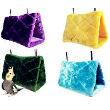 Plush Hut Hammock Hanging Cave Cage Snuggle Tent Bed Bird Parrot Toy Random