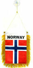 "Norway Mini Flag 4""x6"" Window Banner w/ suction cup"