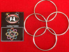 "Nuclear Fusion - Chinese Linking Rings - Set of 4, 4"" Magic Trick"