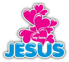 Jesus My Love Car Bumper Sticker Decal 5'' x 4''