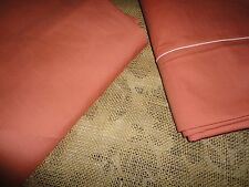 JC PENNEY JCP (PC) TWIN SHEET SET TERRACOTTA SALMON COTTON BLEND