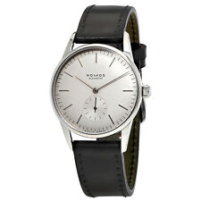 Nomos Orion Weiß  White Dial Black Leather Unisex Watch 306