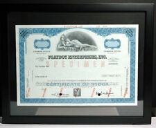 PLAYBOY Stock SPECIMEN Rare BLUE Willy Rey Playmate FRAMED Hefner Signed Unique