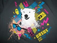 "Ursus Vodka ""Stay Fresh Stay Cool"" Polar Bear Grey 50/50 Graphic Print T-Shirt M"