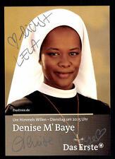 Denise M 'Baye per amor del cielo AUTOGRAFO carta firmato ORIGINALE TOP # BC 177